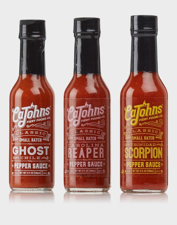 CaJohns Pack – spicy - gourmet hot sauces - chilisauces